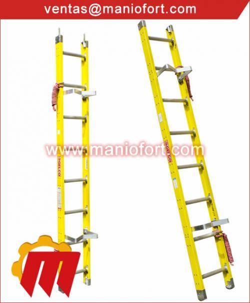 Escaleras Telescópicas(extensión), de tijera, multiusos de fibra y aluminio