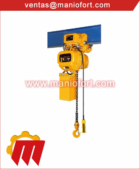 Tecle Electrico con Trolley 2 Ton