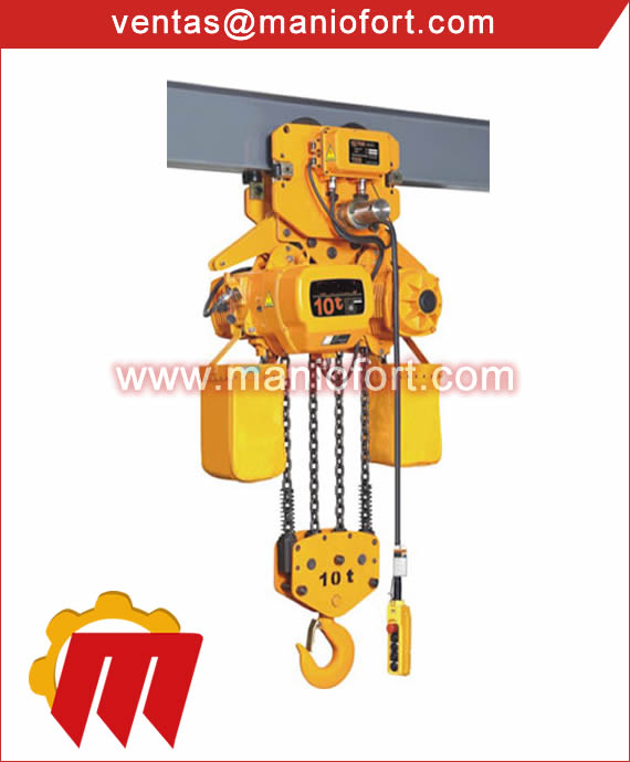 Tecle Electrico con Trolley 10 Ton